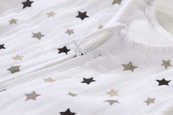 Alvi Baby Schlafsack MUSSELINE, 60 bis 110 cm STERNE