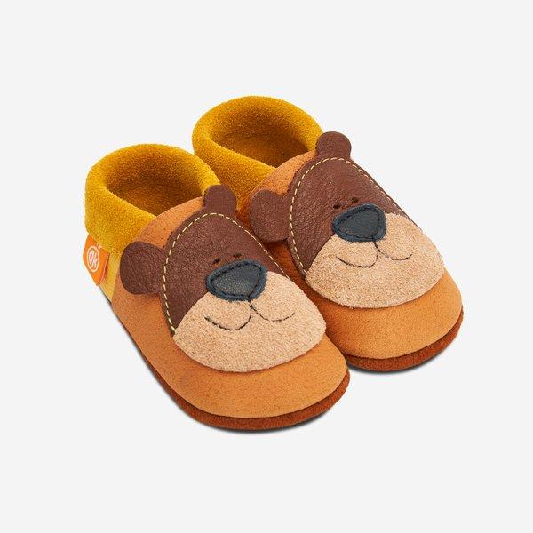 Babyschuhe Orangenkinder- Bärnie der Honigbär
