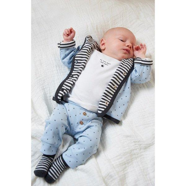 Feetje Baby Wendejacke Little Person, hellblau- grau Gr. 44 bis Gr. 74