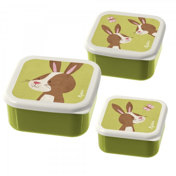 Sigikid 3er Set Snackdosen Hase