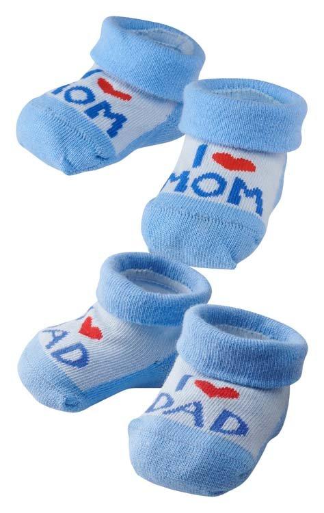 Babysöckchen I LOVE MOM, I LOVE DAD