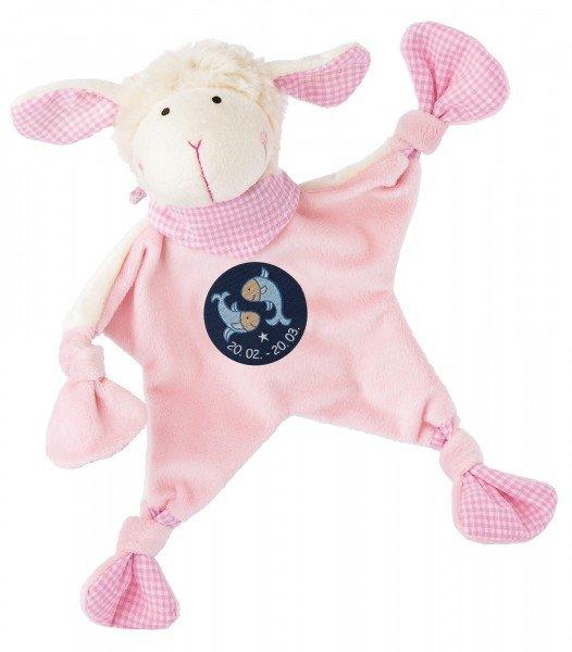Sigikid Schmusetuch Schaf in rosa mit Sternzeichen FISCHE
