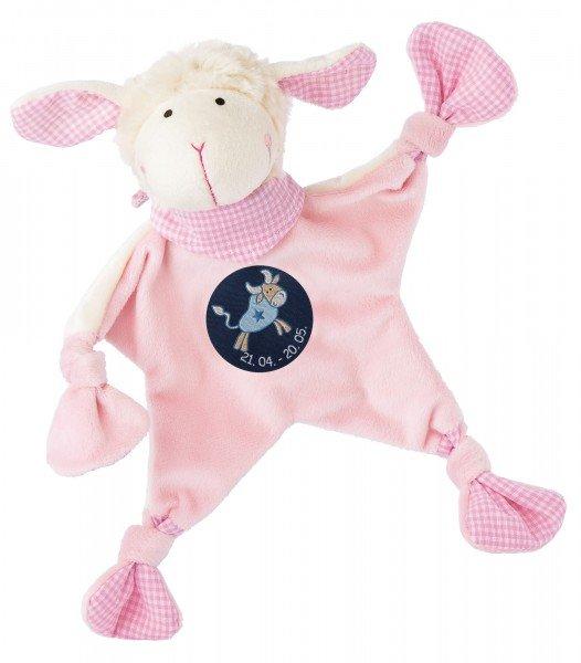 Sigikid Schmusetuch Schaf in rosa mit Sternzeichen STIER