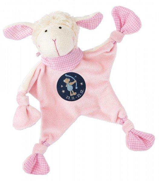 Sigikid Schmusetuch Schaf in rosa mit Sternzeichen SCHÜTZE