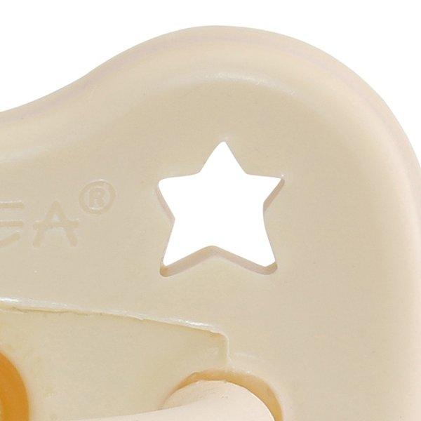 HEVEA Beruhigungssauger aus Naturkautschuk, 3- 36 Mon. kiefergerechte Form, Milky white