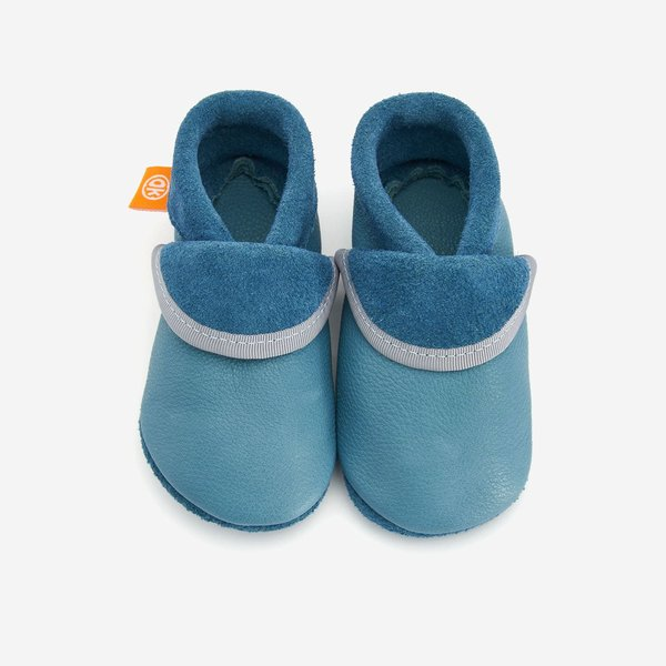 Babyschuhe, Orangenkinder hellblau