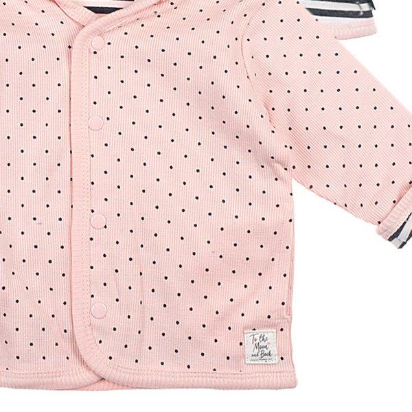 Feetje, Baby Wendejacke, Dots, rosa- grau Gr. 44 bis Gr. 68