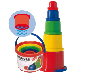 Sandspielzeug Spielstabil, Stapelbecher, 1 +